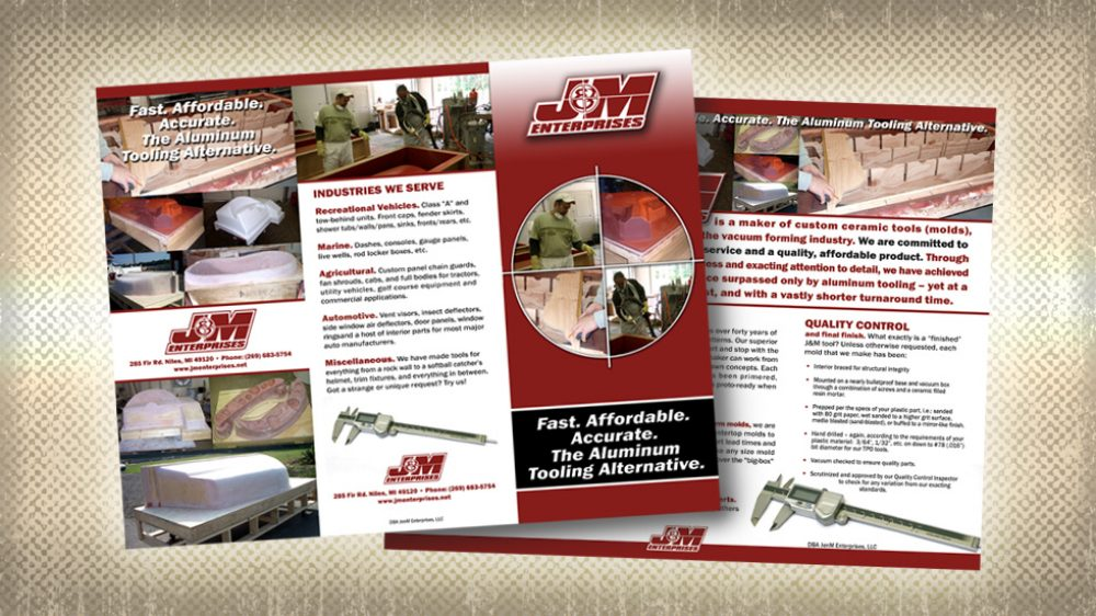 J&M Full Color Tri Fold Brochure